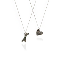 bone and heart necklaces